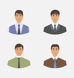 Avatar set front portrait office employee vector image