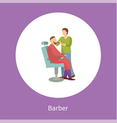 barber shop poster hairdresser cut or shave beard vector image