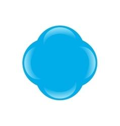 Blue molecule icon vector