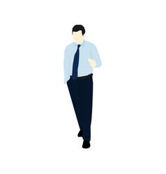 blue shirt business people vector image