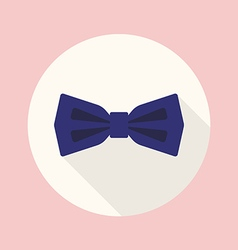 Bow tie flat icon vector