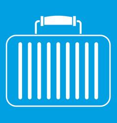 Briefcase icon white vector