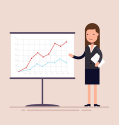 businesswoman or an employee with documents in his vector image