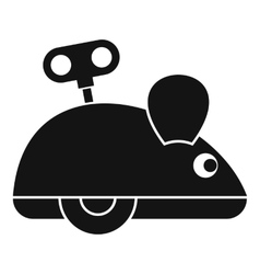 Clockwork mouse icon simple style vector