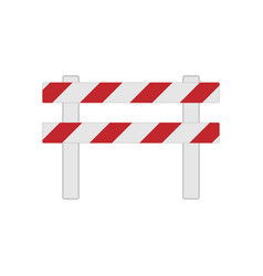 color realistic road barrier for traffic and vector image