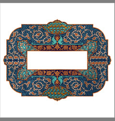 Colorful islamic illumination for mosque tiling vector