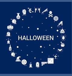 Creative halloween icon background vector