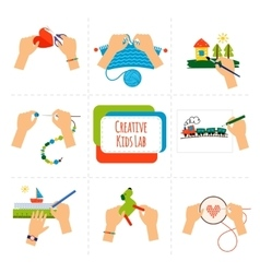 Creative kids hands vector