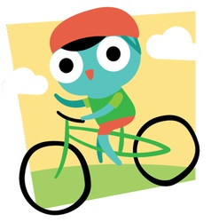 Cute Cartoon Cyclist vector