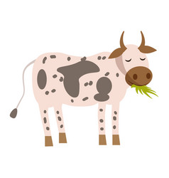 cute cow animal trend cartoon style vector image