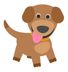 cute puppy on a white background vector image