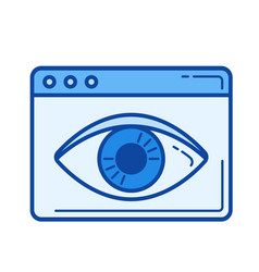 data vizualization line icon vector image