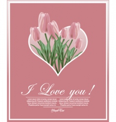 Floral tulips vector