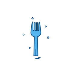 fork icon design vector image
