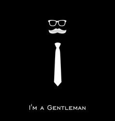 Gentleman club logo template design vector