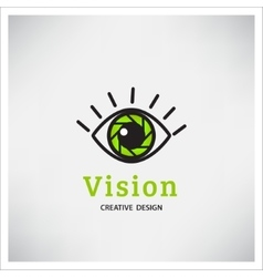 Green Eye Logo vision vector