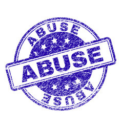 Grunge textured abuse stamp seal vector