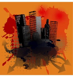 grunge urban concept vector image vector image