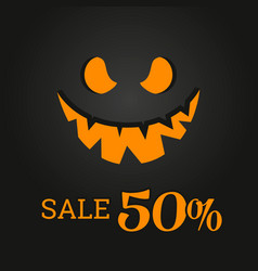 halloween template banner in flat modern style vector image