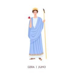 hera or juno - goddess women marriage family vector image