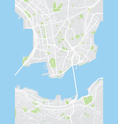 hong kong colored map vector image