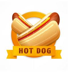 Hotdog logo vector