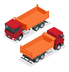 isometric dump truck isolated vector image