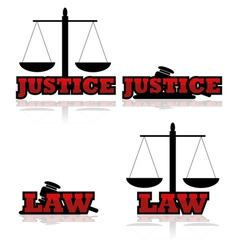 Justice and law vector