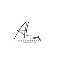 Letter al signature logo template vector