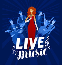 live music poster musical festival concert vector image