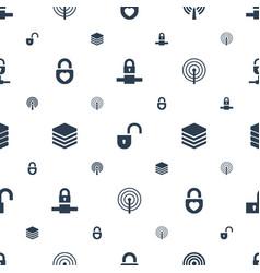 locker icons pattern seamless white background vector image