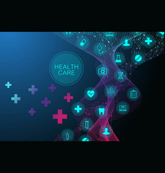 medical abstract background with health care icon vector image