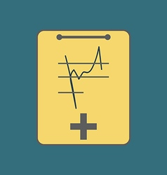 Medical Notebook Icon vector