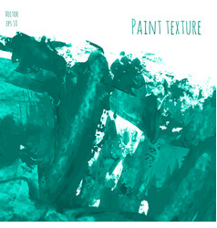 mint turquoise blue hand paint watercolor vector image vector image