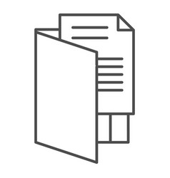 Open folder thin line icon file folder vector