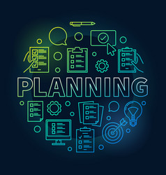 Planning round made vector