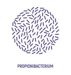 propionibacterium icon probiotic concept logo vector image