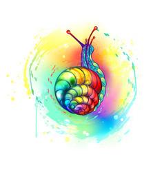 Rainbow snail vector
