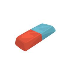 rubber pencil eraser office tool cartoon vector image