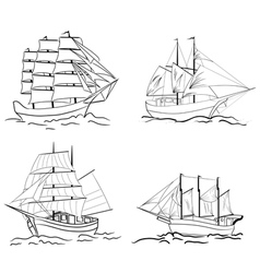 Sailing set vector