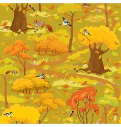 Seamless pattern - Autumn Forest Landscape vector image
