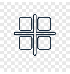 Select all concept linear icon isolated on vector