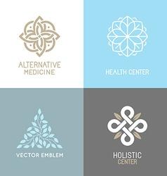 set abstract logos vector image