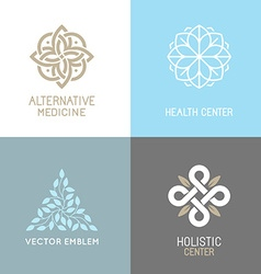 Set of abstract logos vector image
