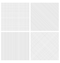 Set of monochrome hatch seamless patterns vector image