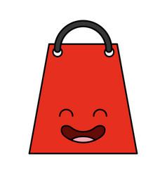 shopping bag kawaii character vector image