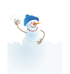 Snowman snowball playing in snowball vector