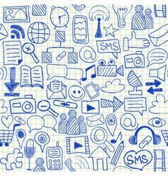 Social media seamless pattern vector