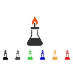 Spirit lamp fire icon vector