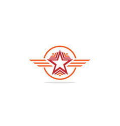 Star pride shape line logo vector